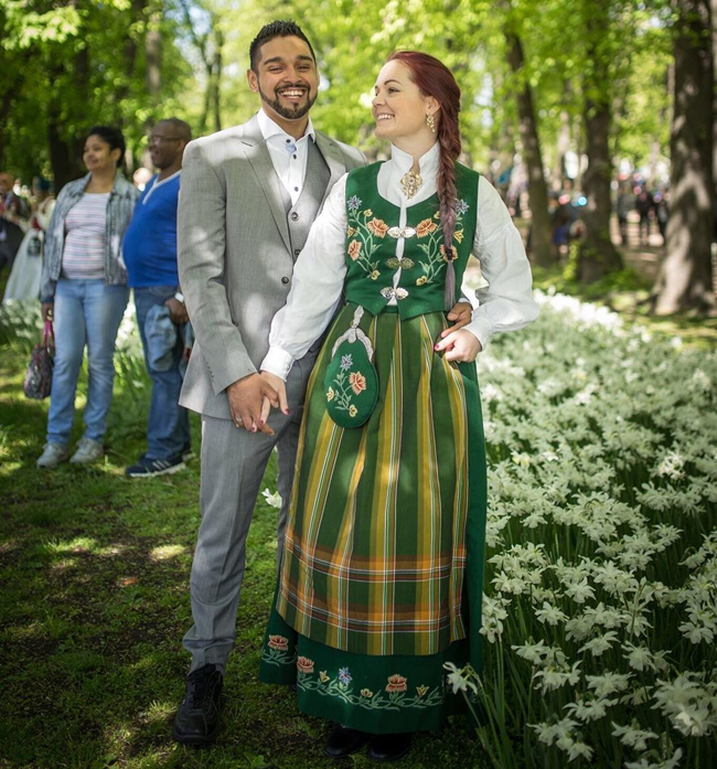 In Norway It Is Common To Wear Bunad A Traditional Norwegian Costume For Special Occasions Like Weddings And Christening Parties