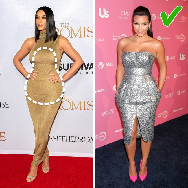 Image result for pear body shape celebrities kim kardashian
